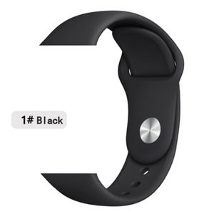 NEW[BAND] Black Sport Silicone For Apple Watch